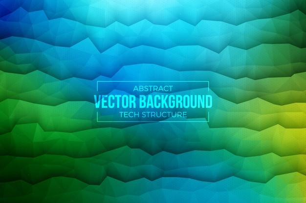 Grün-blauer abstrakter hintergrund der technologie-3d