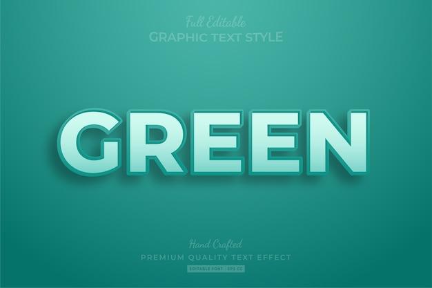 Grün clean editable text style-effekt