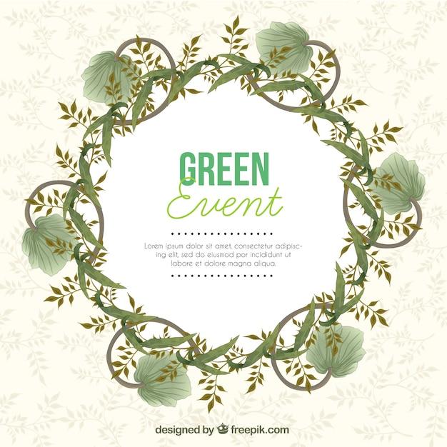 Grün ereigniseinladung