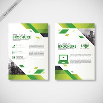 Grün flyer vorlage design