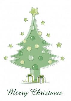 Grün frohe weihnachten baum