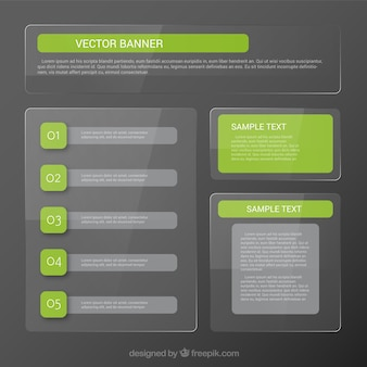 Grün infografik-banner-vorlage