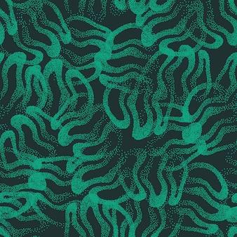 Grün punktiertes abstraktes nahtloses muster