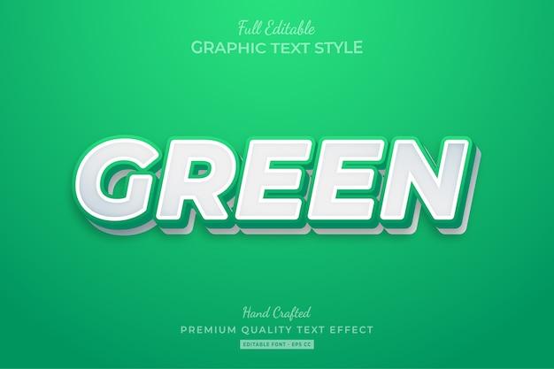 Grün reinigen sie den bearbeitbaren premium-textstil-effekt