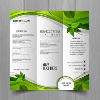 Grün triptychon broschüre