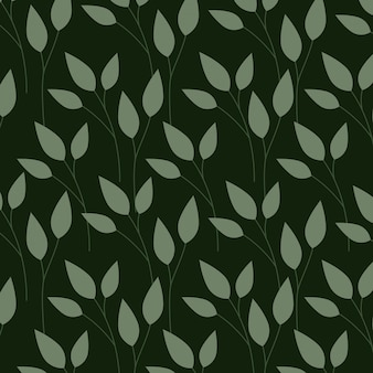 Grünblätter, musterillustration