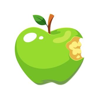 Grüne apfelfrucht