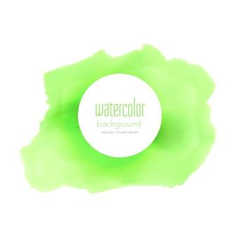 Grüne aquarellfleck vektor hintergrund