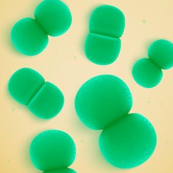 Grüne bakterienkolonie, pathogene mikroben