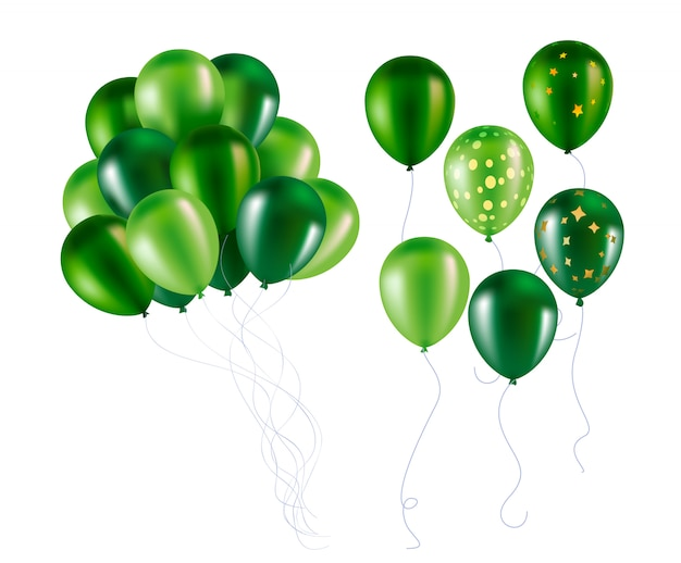 Grüne ballons