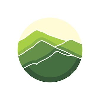 Grüne berg-logo