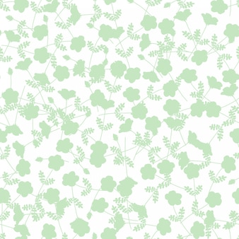 Grüne blume nahtlose muster
