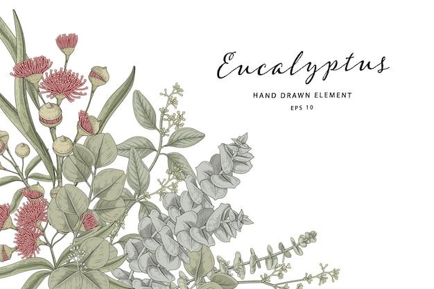Grüne botanische illustration
