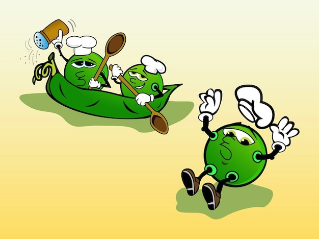 Grüne cartoon köche zeichen