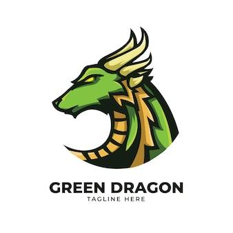 Grüne drachenillustration