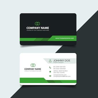 Grüne elegante unternehmenskartenschablone