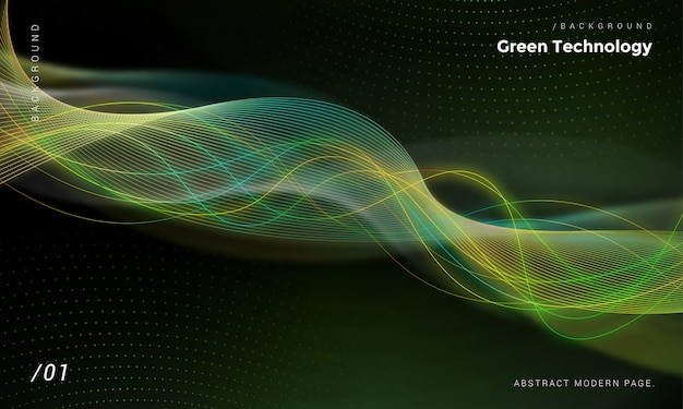 Grüne energie hintergrund