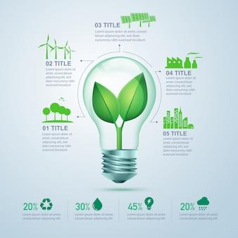 Grüne energie-infografik
