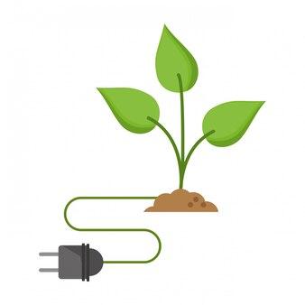 Grüne energie ökologiekonzept