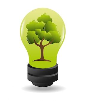 Grüne energie und ökologie Kostenlosen Vektoren