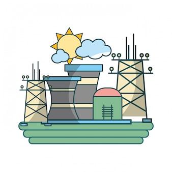 Grüne energieindustriekarikatur