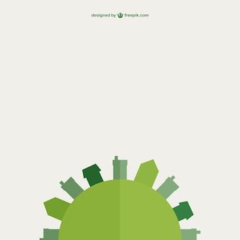 Grüne erde vektor-flaches design