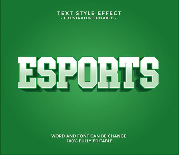 Grüne esport-schriftart