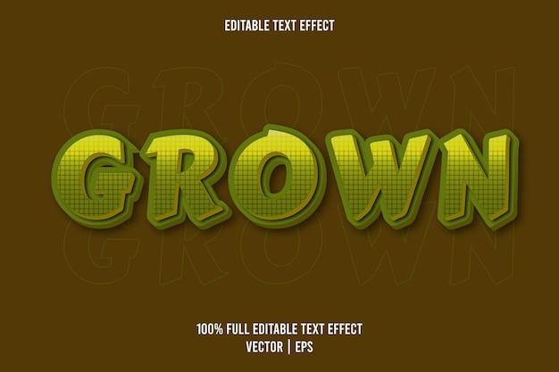 Grüne farbe des bearbeitbaren texteffekts gewachsen