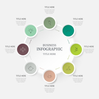 Grüne farben infografik