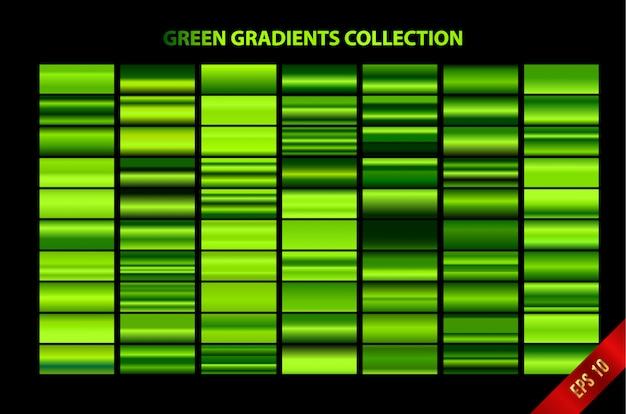 Grüne farbverläufe sammlung