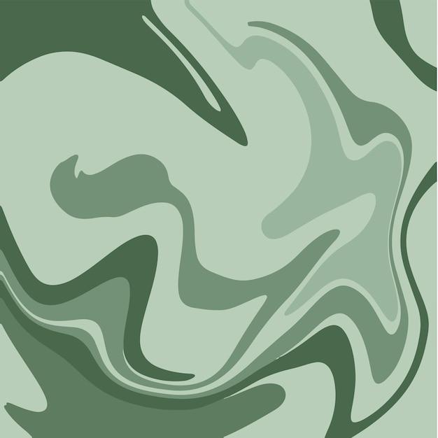Grüne flüssige marmor textur tinte malerei abstrakten hintergrund muster vektor illustrationen