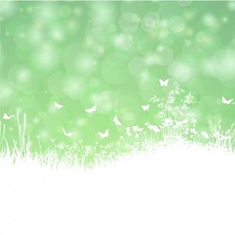 Grüne frühlingslandschaft