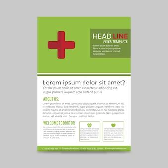 Grüne gesundheits-broschüre