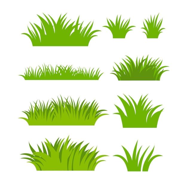 Grüne grassilhouette. pflanzen und sträucher zum beplanken und einrahmen.