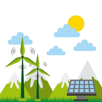 Grüne idee und ökologiedesign
