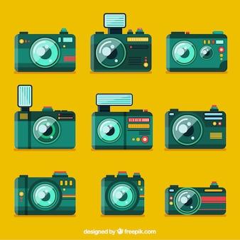 Grüne kamera sammlung