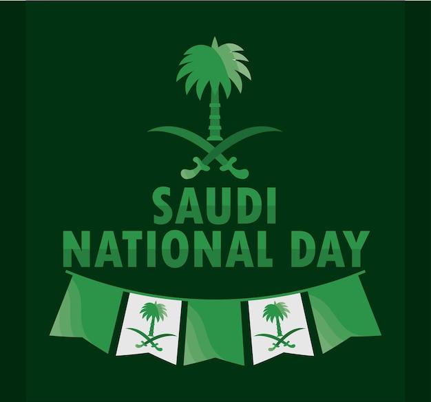 Grüne karte zum tag von saudi-arabien