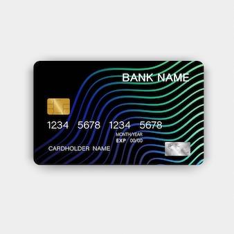 Grüne kreditkarte.
