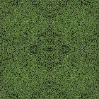 Grüne kunst mit abstraktem linearem nahtlosem muster