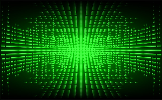Grüne led kinoleinwand. heller abstrakter technologiehintergrund