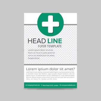 Grüne medizinische flyer layout vorlage