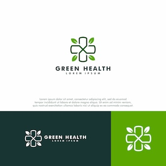 Grüne medizinische logo vorlage