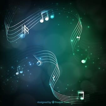 Grüne musik hintergrund