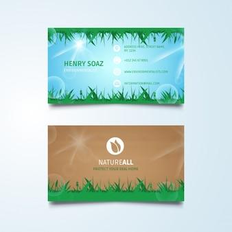 Grüne natur visitenkarten vorlage