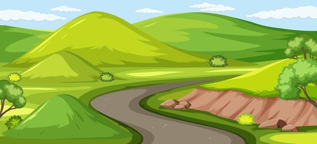 Grüne naturillustration im freien