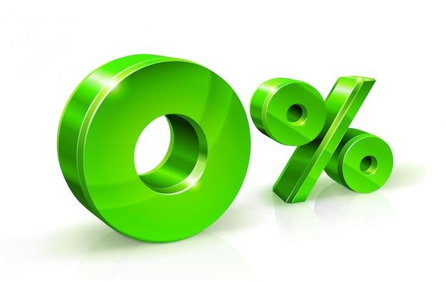 Grüne null prozent oder 0%