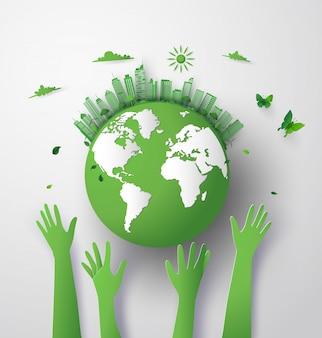 Grüne öko-erde