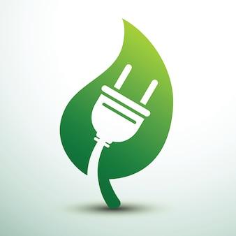 Grüne öko-steckdose