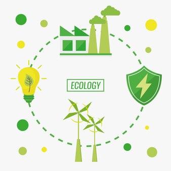 Grüne ökologie und umweltschutz