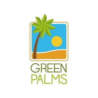Grüne palmen symbol